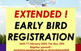 Early Bird Registration ITB International Geothermal Workshop 2020 (IIGC 2020) hingga 17 Februari 2020