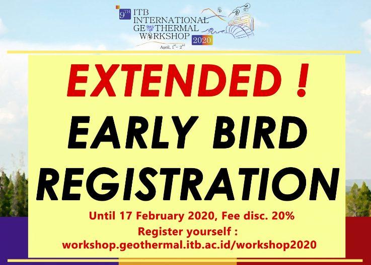 Early Bird Registration ITB International Geothermal Workshop 2020 (IIGC 2020) hingga 17 Februari 2020