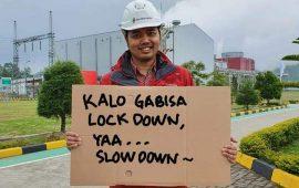 Kreatif, Pegawai Geo Dipa Upload Foto-foto Pesan Bertema Corona