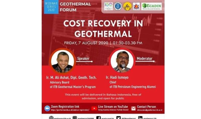 Geothermal ITB dan ECADIN Gelar Webinar Bertema Cost Recovery dalam Pemanfaatan Panas Bumi Jumat (7/8)