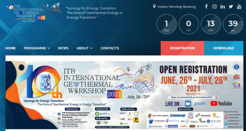 ITB International Geothermal Workshop 2021